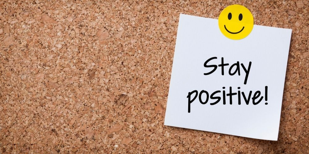 stay positive note